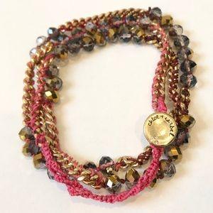 Chloe + Isabel Pink Wrap Bracelet